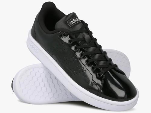Zapatillas de Mujer Adidas Advantage Negras Charoladas - Moda
