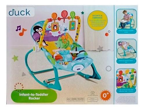 Duck Baby Mecedora C/vibrador Azul 100116