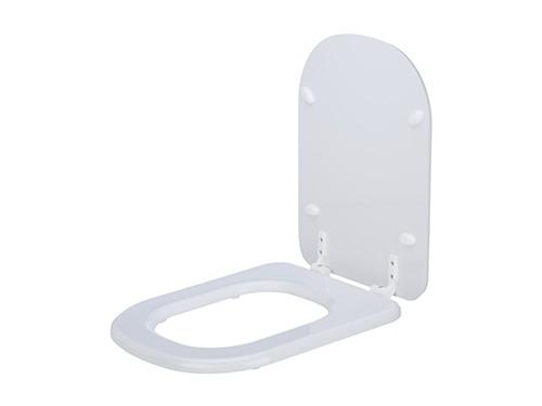 Asiento Para Inodoro Bari Blanco Herrajes de Plástico