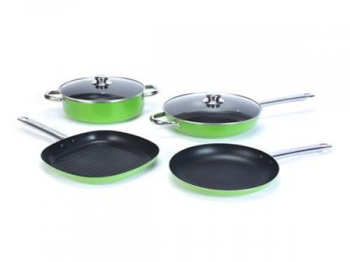Bateria de cocina antiadherete 6 piezas verde Carol (36250)