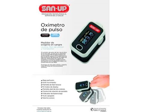 Oximetro De Pulso San Up Oxigeno Saturometro Oled Display