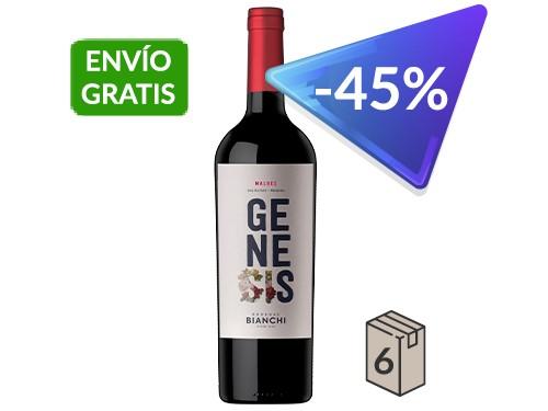 Genesis Malbec. Caja x 6. 750 ml.