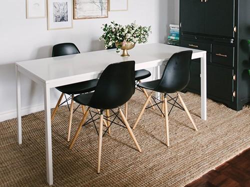 Set 4 Sillas Eames color negro
