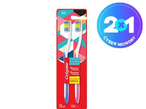 Cepillo Dental Colgate Twister Suave 2unid
