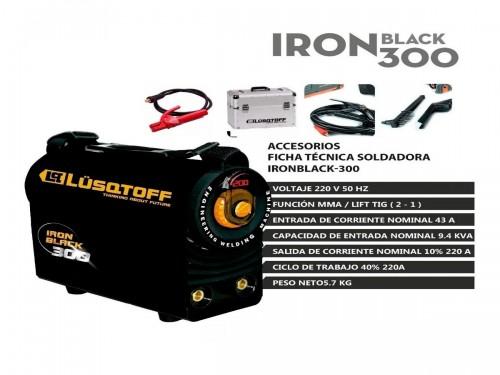 Soldadora Inverter Lusqtoff Iron black 300