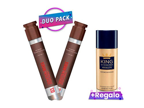 THE SECRET TEMPTATION EDT 30ML DUO PACK + DEO KING SEDUCTION ABSOLU