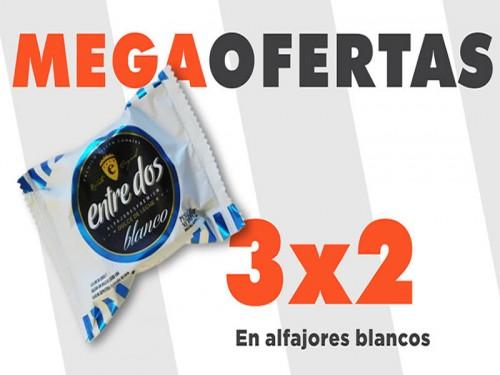 3x2 Alfajor de Chocolate Blanco con Dulce de Leche