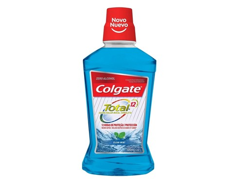 Colgate Enjuague Bucal Total 12 Clean Mint x 500 ml