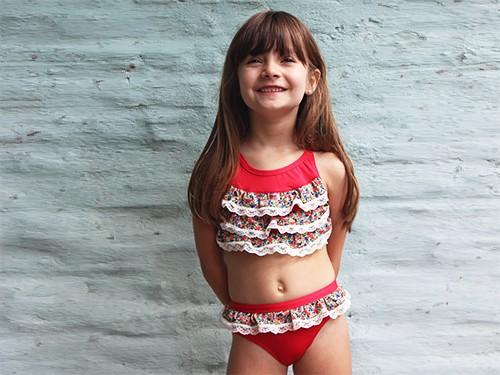 Bikini Puntilla con Volados Nena