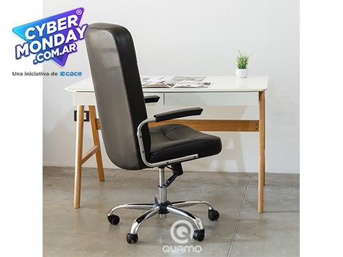 Sillón de escritorio Base Cromada Regulable DECANO | QUAMO