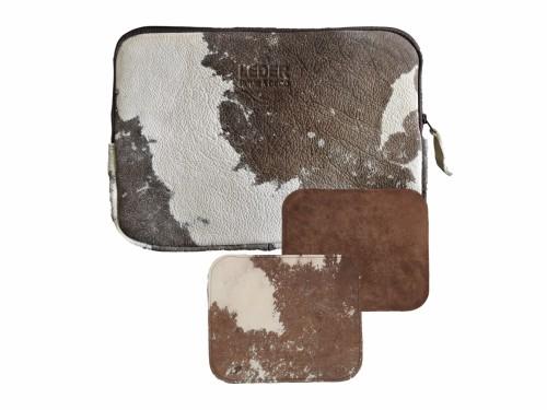 """Kit Funda Notebook Cuero Vacuno Vintage 15"""" + Mouse Pad"""