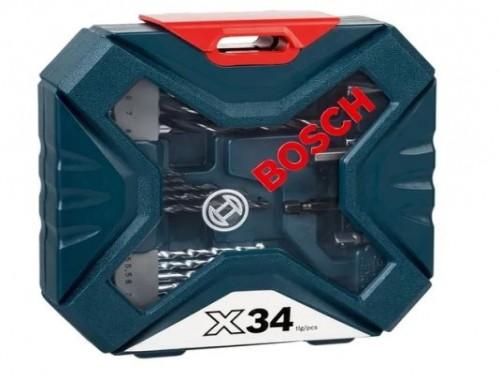 Set X-line Bosch 34 Accesorios Para Perforar Y Atornillar