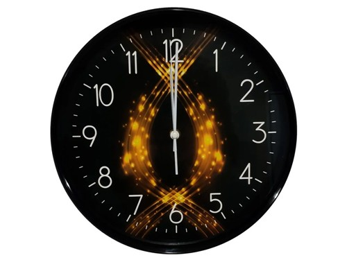 Reloj Pared Clasico Analogo 30cm Negro M3 Cybermonday Sheshu
