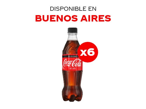 Coca-Cola Sin Azúcar 500 ml Pack x6