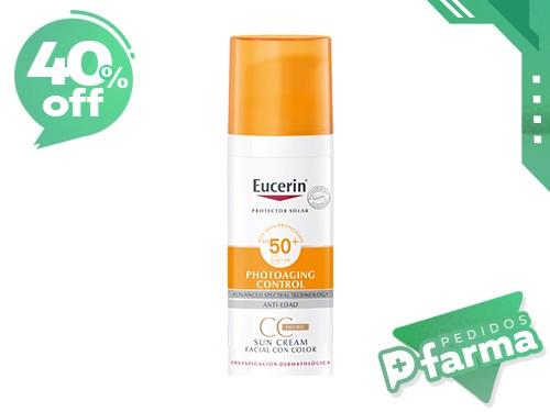 Protector Solar Facial Eucerin Sun Cc Cream Fps50+ Con Color X 50ml