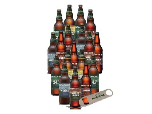 Pack 18 Cervezas Patagonia con Destapador