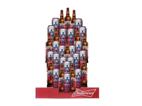 Pack 32 Cervezas Budweiser con Beermat
