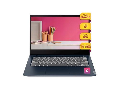 Notebook Lenovo Amd Rryzen 3 8gb Ram Ssd 240gb Hdd 1tb Win10