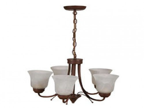 LAMP COLGAR 5L E27 60W CHOCOLATE/MARMOL