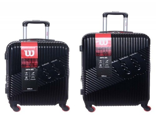 SET EQUIPAJE ABS NEGRO WILSON MD+CH