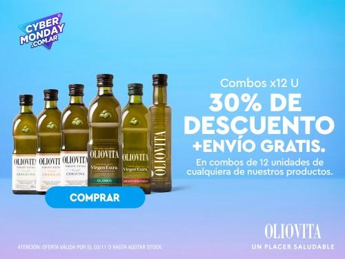 Aceite de Oliva virgen extra Oliovita - Combo Clásico x12