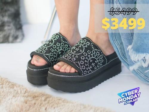 Sandalias de mujer Vegas Negro Araquina