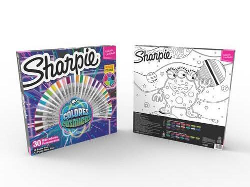 Sharpie Colores Cósmicos Ruleta x30