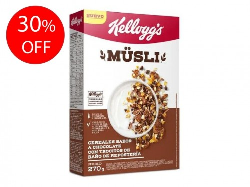 Cereales sabor chocolate x 270 GR Kelloggs Musli