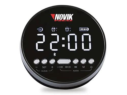 Parlante Bluetooth Portatil NOVIK Aion Reloj Despertador USB Manos Lib