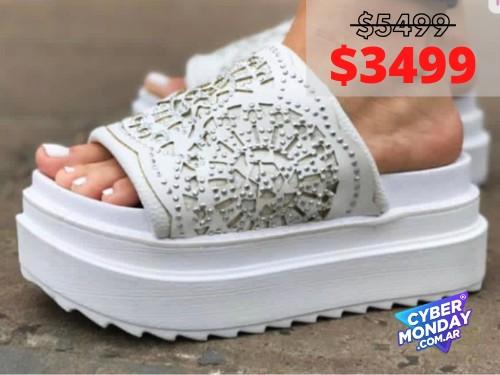 Sandalias de mujer Vegas Blanco Araquina