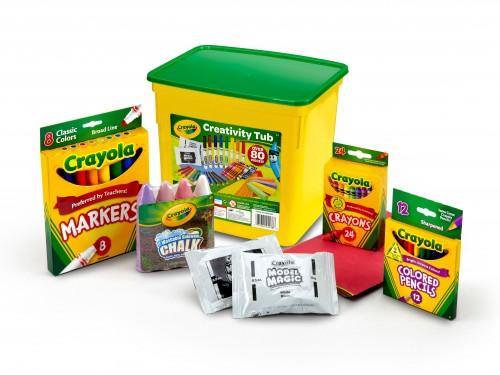 Kit Arte Crayola Tienda Oficial Creative Tub X 80 Piezas
