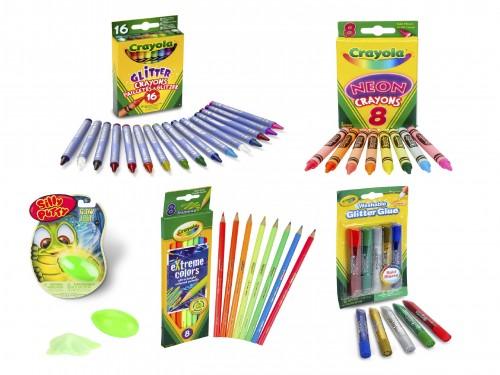 Kit Neón Y Glitter Mix Fan Crayola