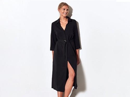 Vestido negro chemise night Margaret - Portsaid