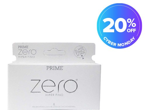 Preservativos Prime Zero Hiper Fino x 6 unidades