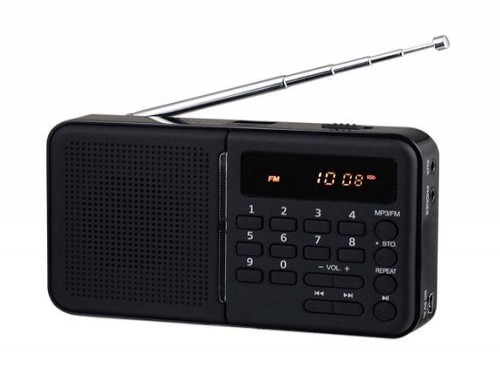 RADIO PORTATIL NEX USB/TF-RPD-1500 DIGITAL FM-AM BATERIA RECARGABLE