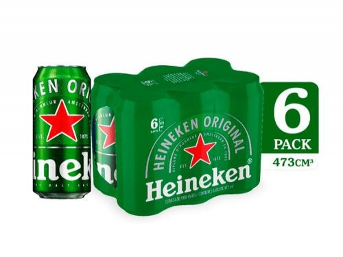 Cerveza Heineken Premium 473Ml Six Pack