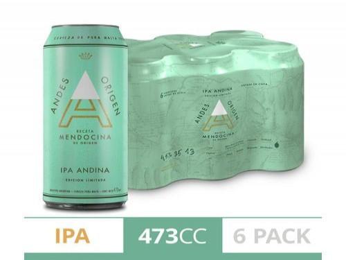 Cerveza Ipa Andes Origen Sixpack 473Ml