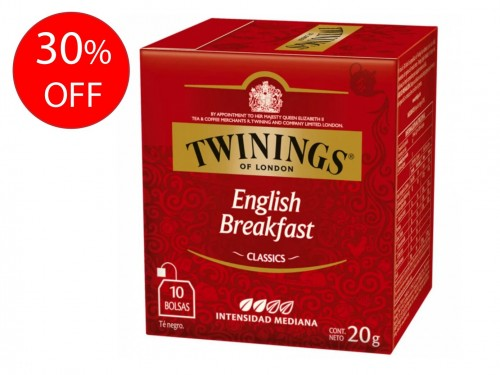 Té English Breakfast x 10 saquitos Twinings