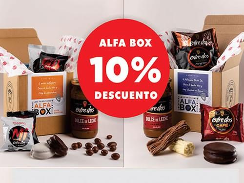 10% descuento Alfabox Naranja y Azul