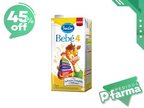SancorBebé Leche Infantil Líquida Etapa 4 Pack 12u de 1 lt