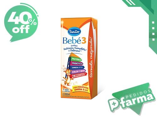 SancorBebé Leche Infantil Líquida Etapa 3 Pack 30u de 200 ml