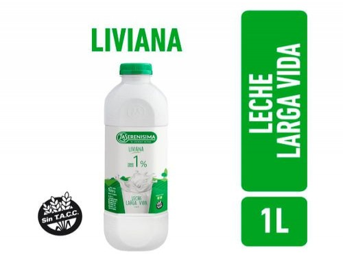 Leche Parcialmente Descremada Liviana La Serenisima Larga Vida 1L