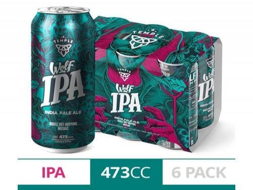 Cerveza Temple Wolf Ipa 473cc Six Pack