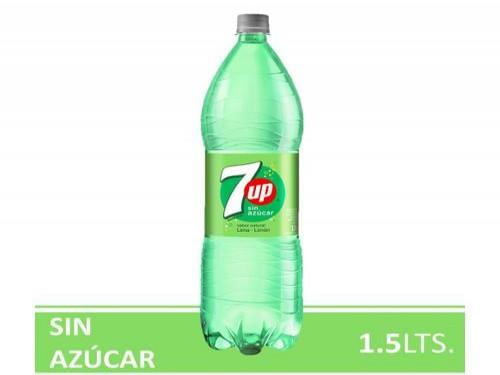 Gaseosas 7up Lima Limón Sin Azúcar 1.5L