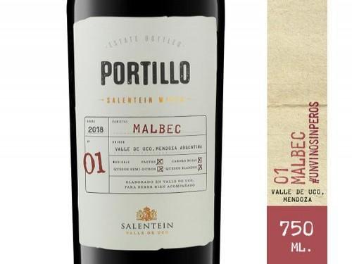Vino Tinto Malbec Portillo 750 Ml