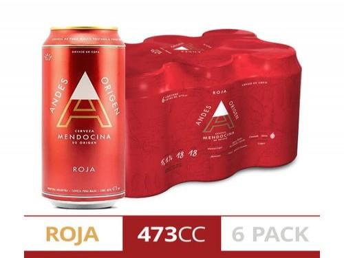 Cerveza Roja Andes Origen Sixpack 473Ml