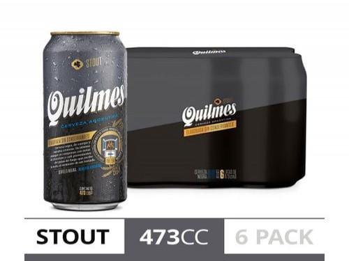 Cerveza Quilmes Stout 473cc Six Pack