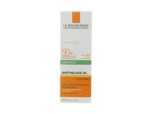Gel Crema Anthelios Toque Seco Sin Color Fps 50+ 50ml La Roche Posay