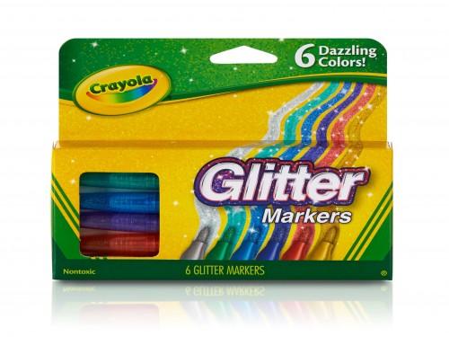 Fibras Marcadores Crayola Glitter X 6 Colores