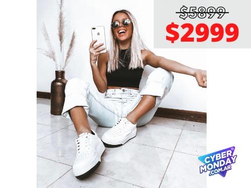 Zapatilla De Mujer Safari Blanco Araquina